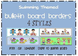 swimming themed bulletin board border