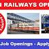 Railway Jobs 2019 for tenth Pass, twelfth Pass, ITI, Diploma, Engineering Graduates, Degree, Post Graduate
