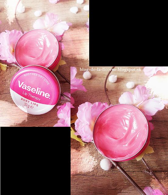 Vaseline Lip Therapy balzam na pery Rosy Lips recenzia