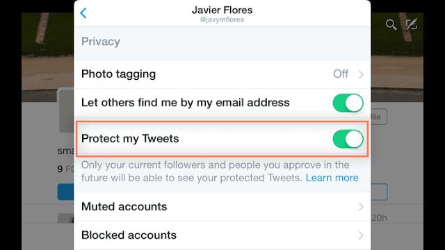 تمكين خيار Protext بلدي تغريدات