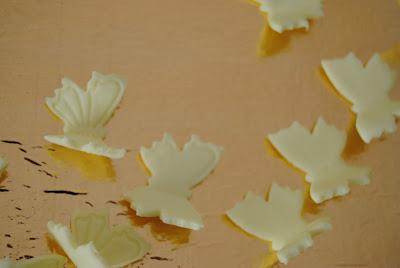 farfalline in pasta di zucchero topper cupcakes