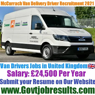 McCurrach Van Delivery Driver Recruitment 2021-22