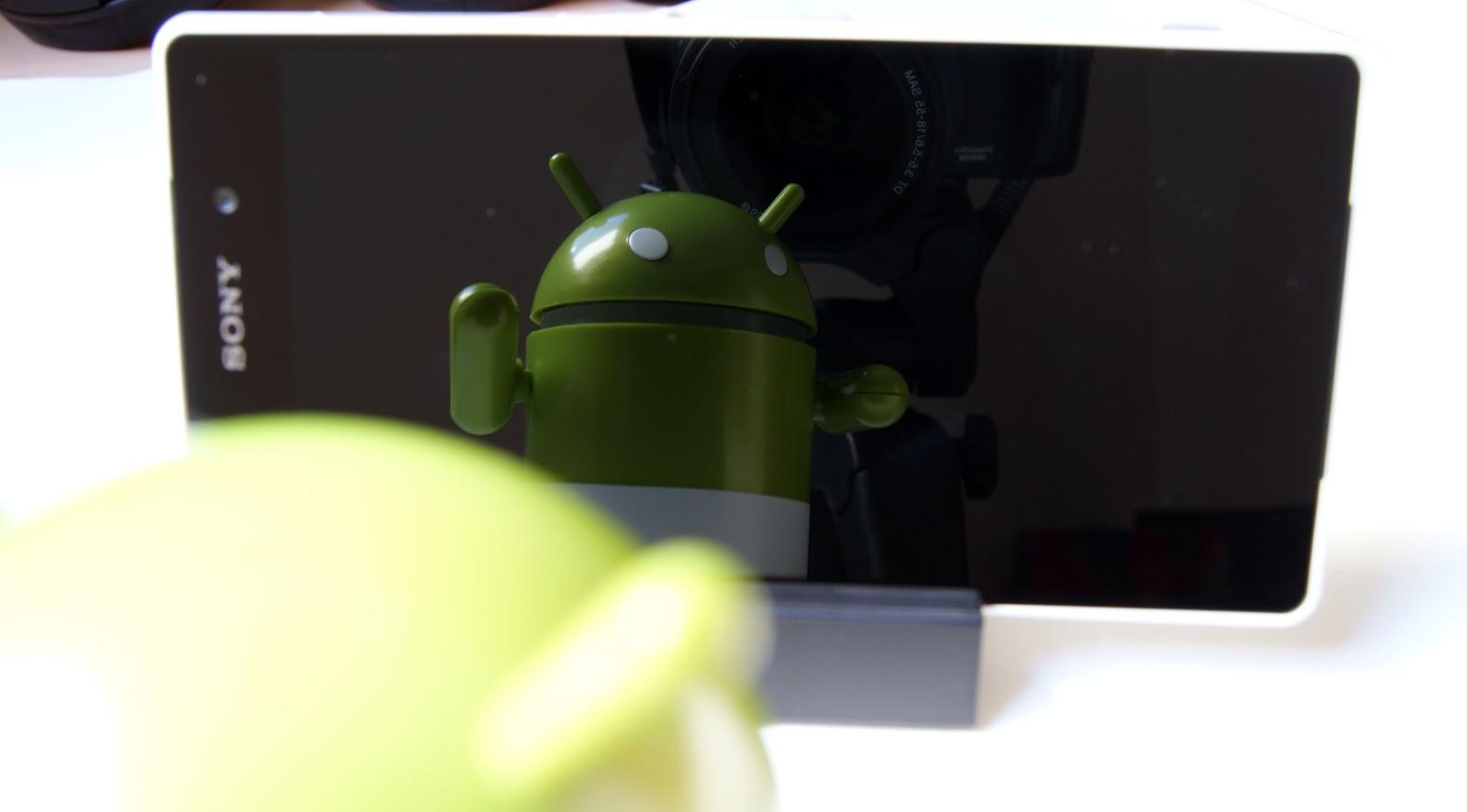 Sony Xperia Z2 - cristal de la pantalla reflectante