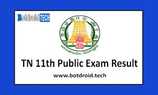 Tamil Nadu 11th Result 2020, Check TN 11th Public Exam Result