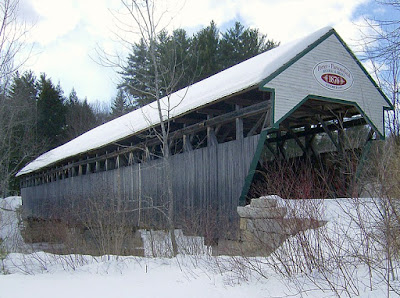 The Porter Parsonsfield Covered Bridge in Maine