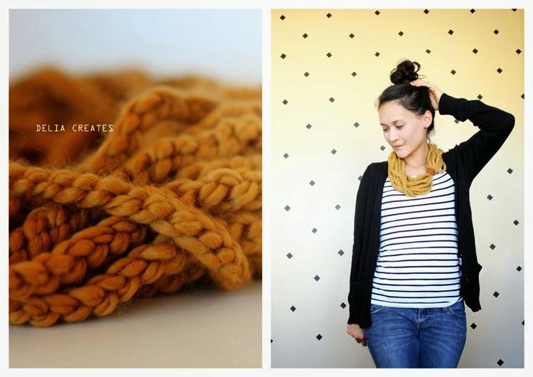 Diy Bufanda-Collar Cadenetas de Crochet