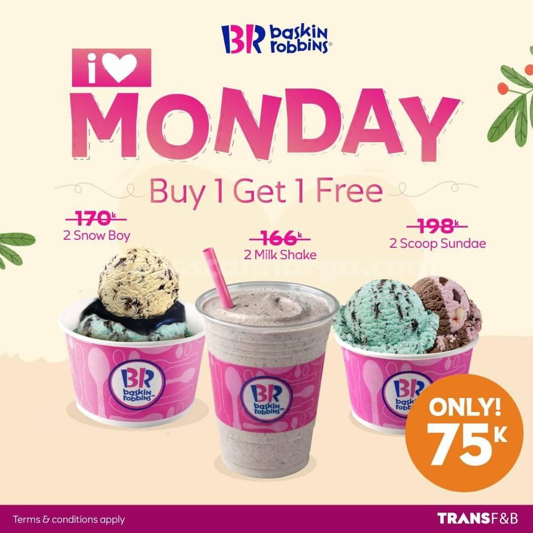 BASKIN ROBBINS Promo I LOVE MONDAY – BELI 1GRATIS 1