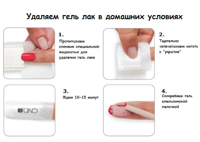 Нанесение гель лака на ногти