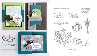 Stampin' Up! Gather Together ~ Come to Gather Card Kit  ~ 2019 Holiday Catalog ~ Stamp of the Month Club Card Kit ~ www.juliedavison.com