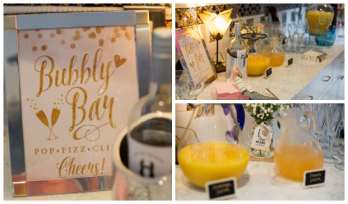 bridal shower bubbly bar