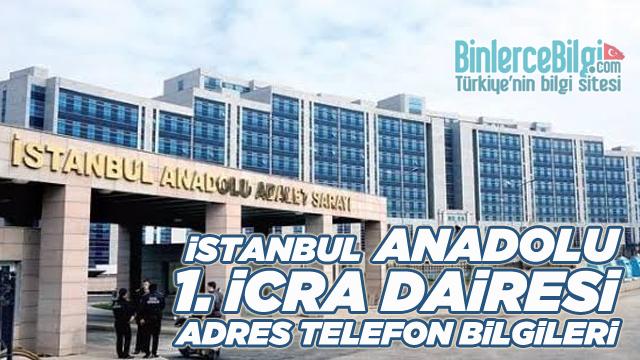 İstanbul Anadolu 1. İcra Dairesi Müdürlüğü Adresi ve Telefon İban No