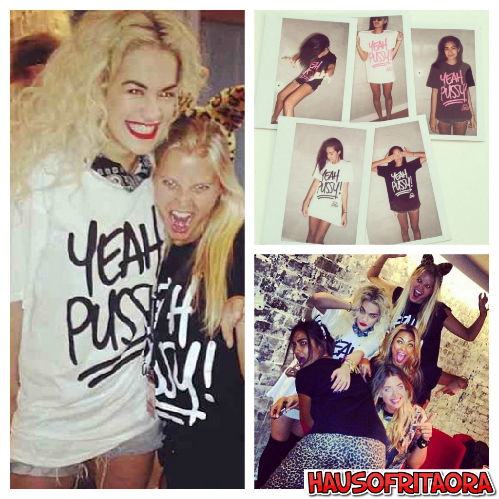 94f6d07d Everyones been talking about Rita Ora´s ¨Yeah Pussy! shirt on one of her  latests photos on Instagram during her time in Australia. These t-shirts  are from ...