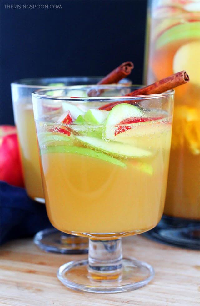 Thanksgiving Drink Recipe: Apple Cider White Wine Sangria
