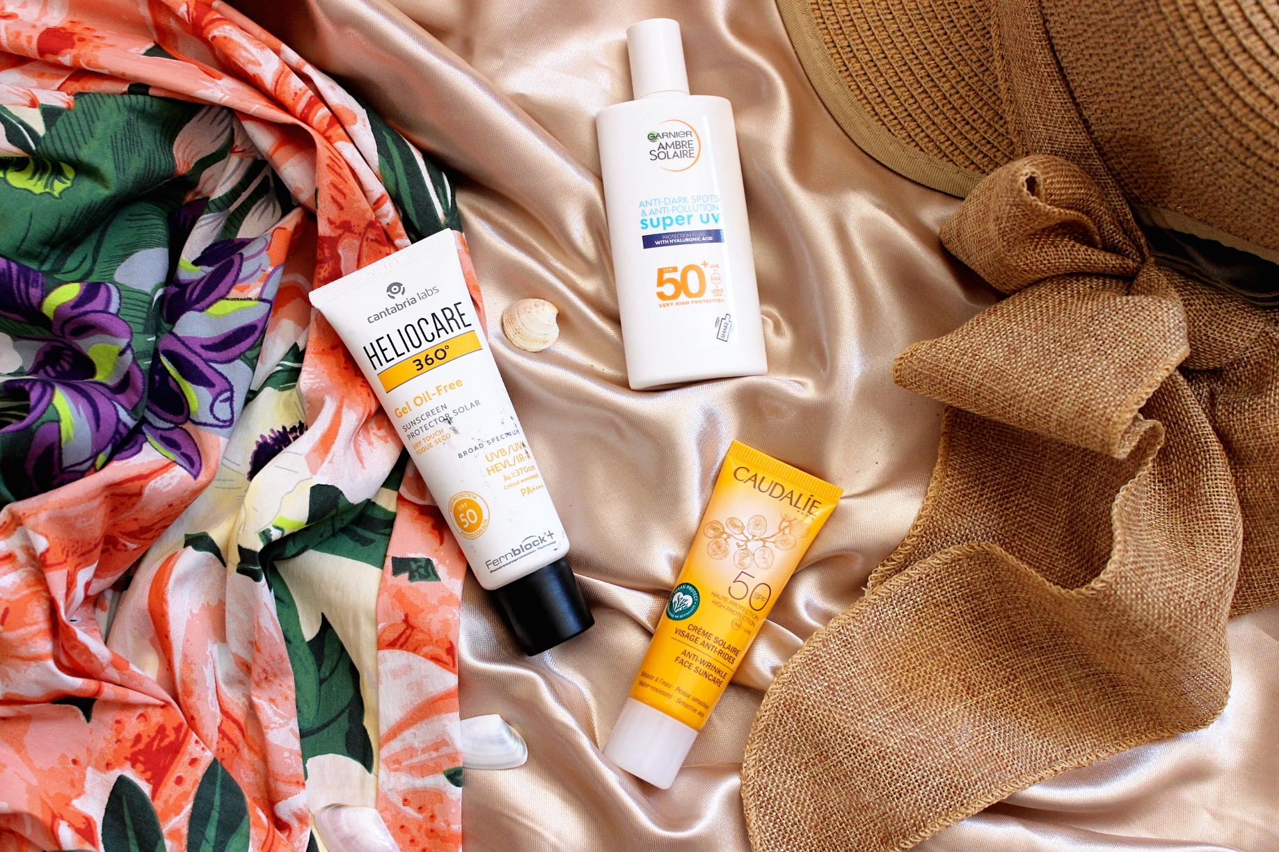 слънцезащитни кремове за лице Garnier, Heliocare, Caudalie