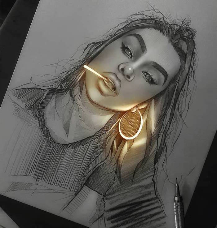 The light comes out from the drawing | Pencil Art-Work by Enrique Bernal