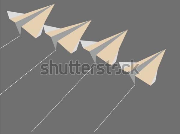 3d illustration paper plane