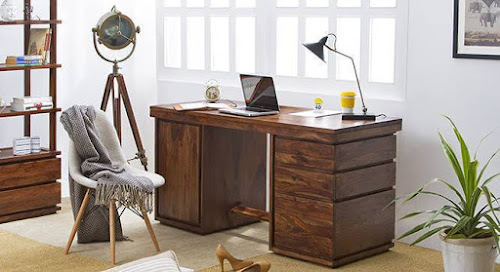 Executive large rosewood office desk