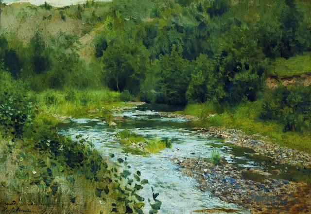 Исаак Ильич Левитан - Речка. 1888