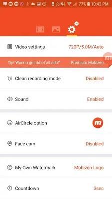 تحميل برنامج مسجل الشاشة Mobizen