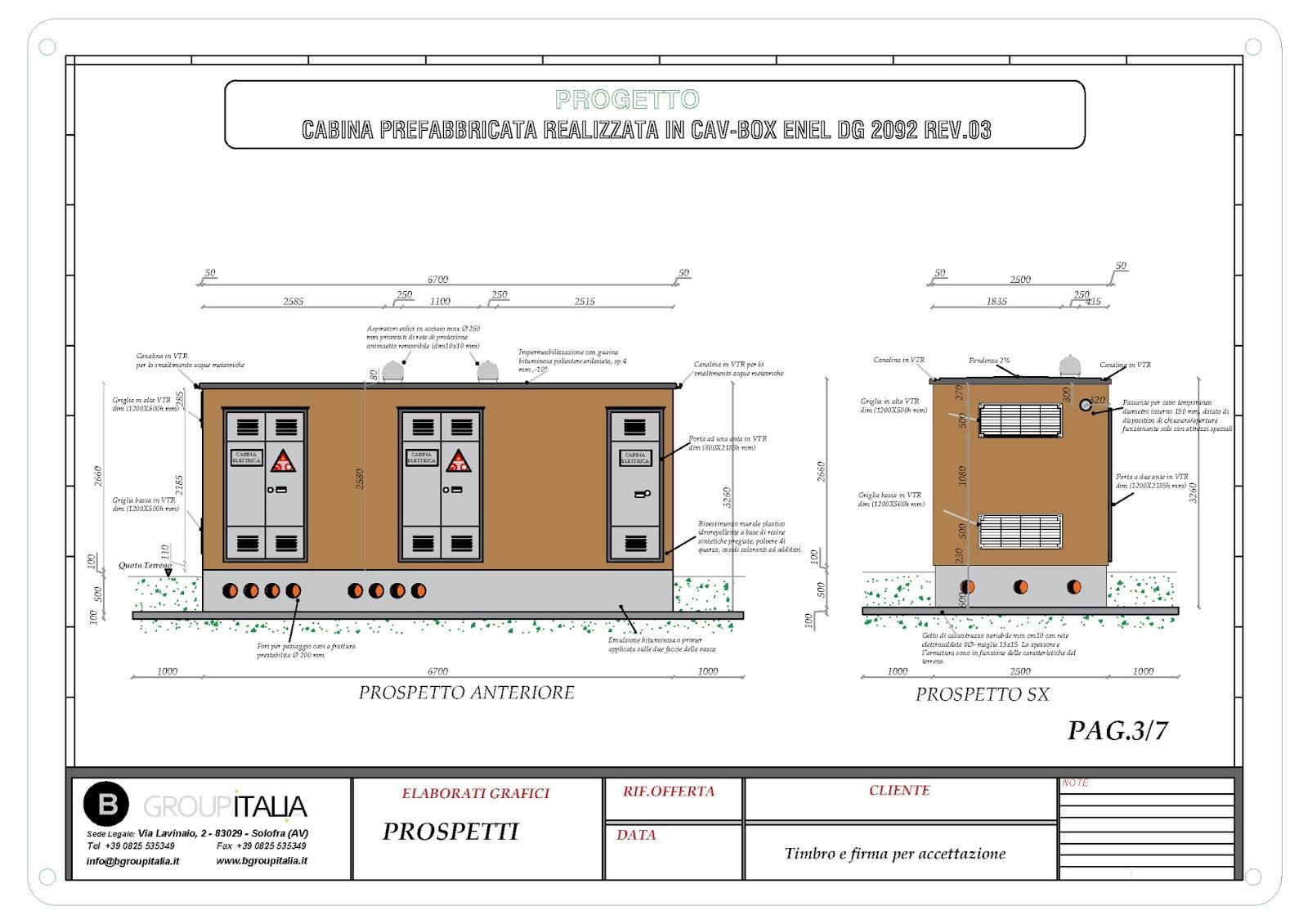 B group italia srl cabine elettriche prefabbricate for Bb italia srl