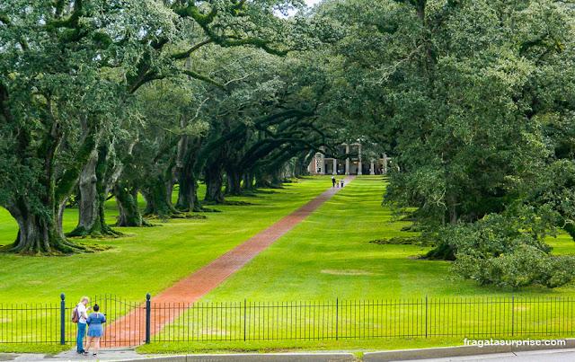 fazenda histórica Oak Alley Plantation, Luisiana, Estados Unidos
