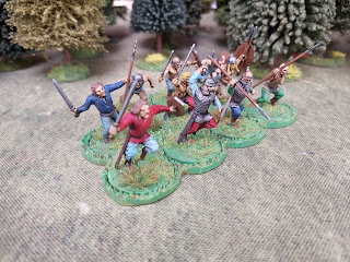 Celtic warriors painted as Gauls
