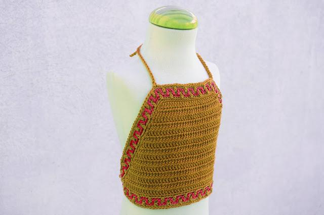 5 - Crochet Imagen Top halter de verano a crochet y ganchillo por Majovel Crochet