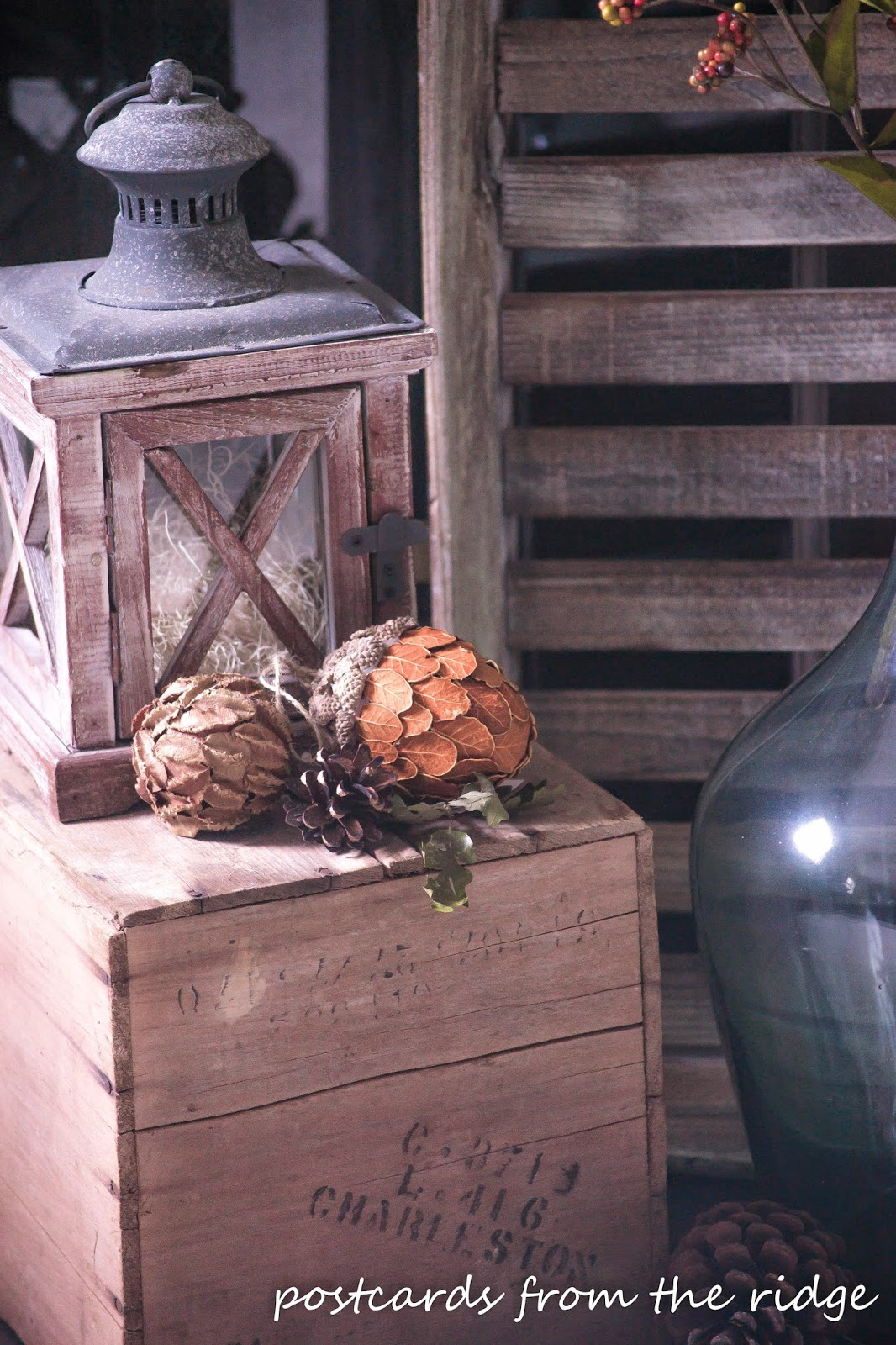 Lots of ideas for fall decor using vintage and farmhouse style items.