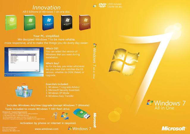 تحميل Windows 7 All in One باللغة الانجليزية النسخة الأصلية