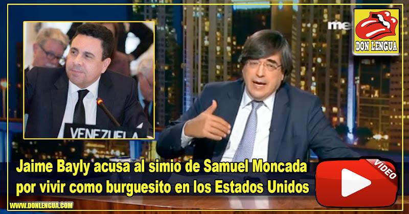 Jaime Bayly acusa al simio de Samuel Moncada por vivir como burguesito en los Estados Unidos