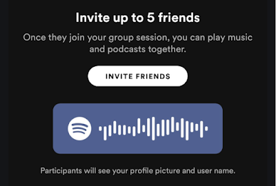 5. Have friends scan the Spotify code or invite them via text message