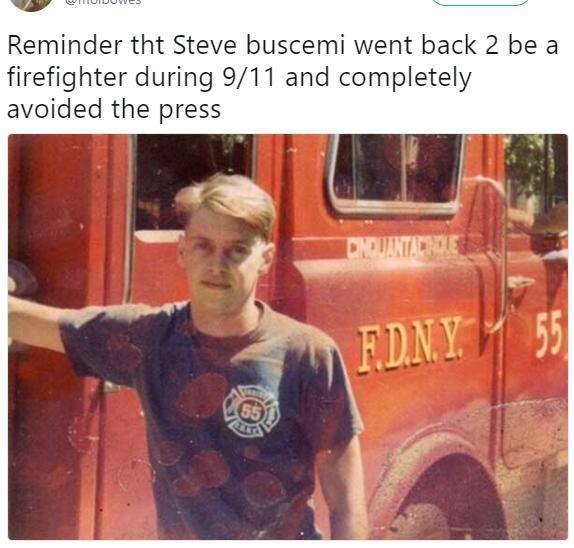 Cada 11 de septiembre EE.UU. recuerda a Steve Buscemi