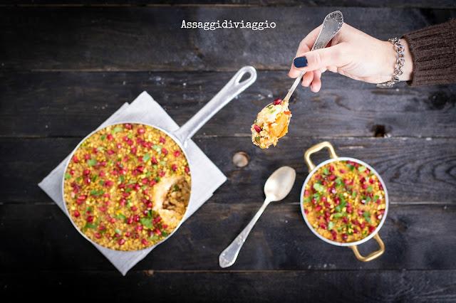 Patate dolci con crumble di quinoa