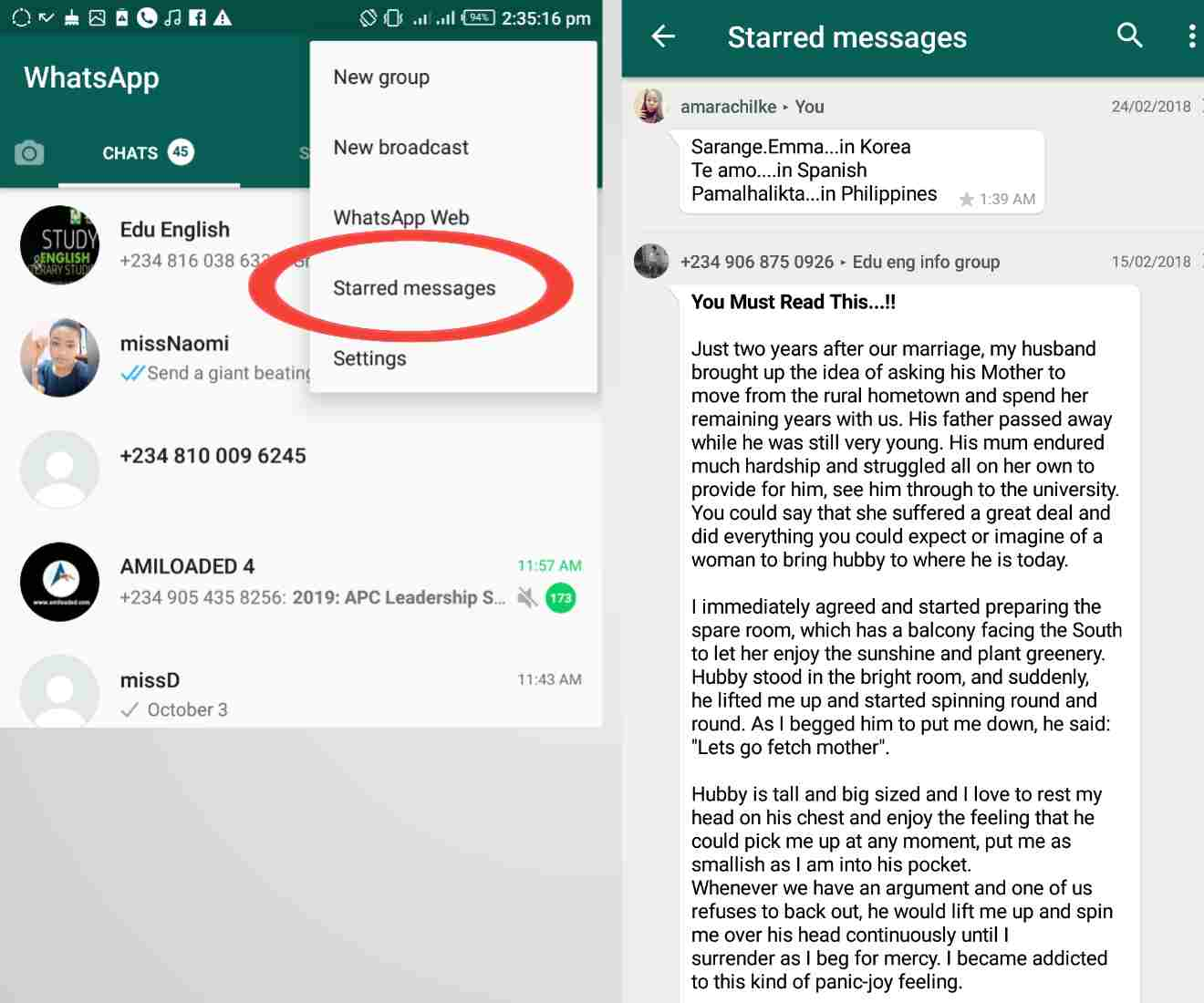 whatsapp tricks 101 - How To see all starred messages on WhatsApp