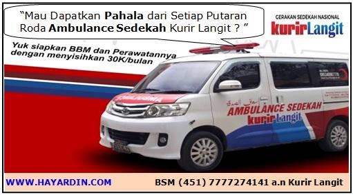Ambulance Sedekah Kurir Langit