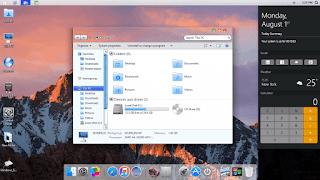 macOS Glass SkinPack untuk Windows 7\8.1\10 RS6