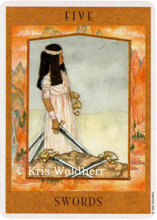 Goddess Tarot Five of Swords