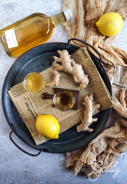 Imbirówka, nalewka z imbiru i cytryny