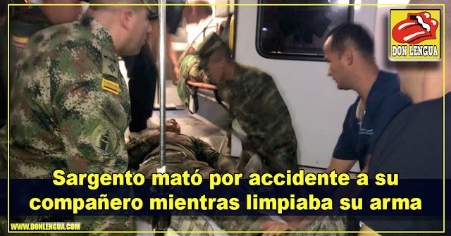 Sargento mató por accidente a su compañero mientras limpiaba su arma