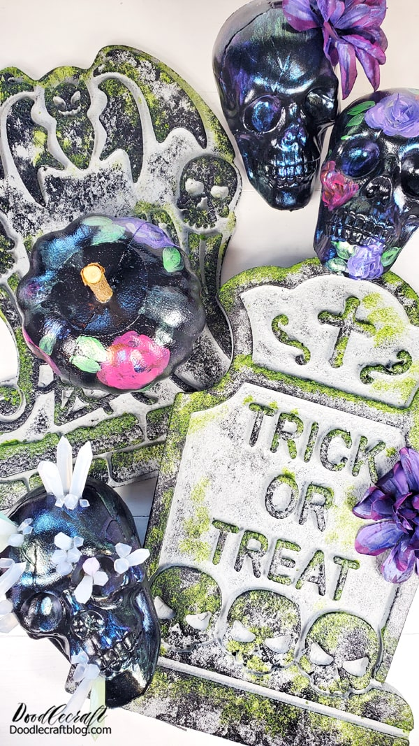 After the party, these all make perfect Halloween decorations and can stay up all month long!
