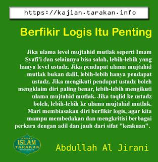 Berfikir Logis Itu Penting - Qoutes - Kajian Islam Tarakan