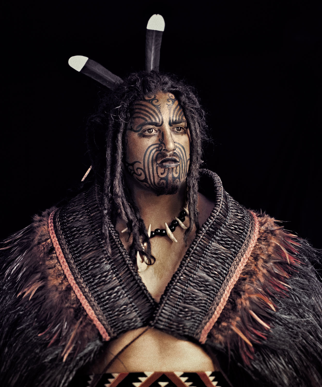 Maori Man: White Wolf : Stunning Portraits Of The World's Remotest