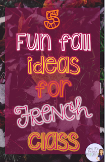 Do you need some fun ways to keep your French classes fresh and fun this fall?  Check out this blog post for some great ideas!