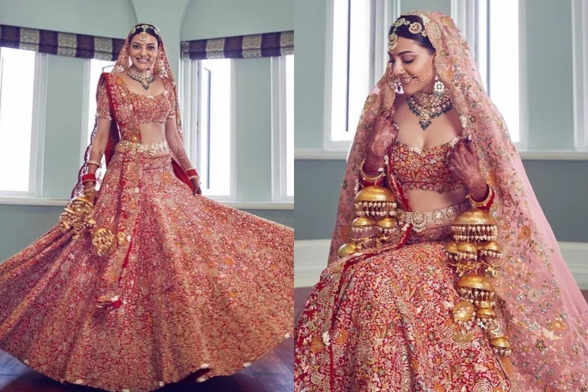 Bridal Look: Kajal Aggarwal Bridal Lehenga Took A Month Time?