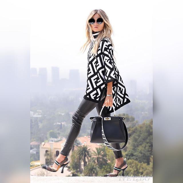 Ασύμμετρη γυναικεία άσπρη-μαύρη μπλούζα MAGIE