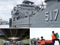 Kapal Perang Bantu Angkut Logistik dan Alkes Bantuan ke Berbagai Pulau di Jatim