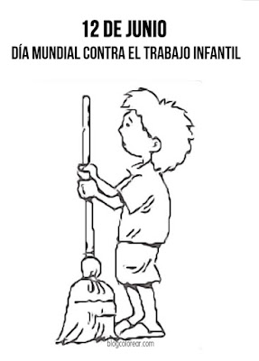 Colorear Día Mundial contra el Trabajo Infantil