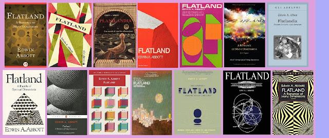 portadas del libro clásico de ciencia ficción Planilandia, de Edwin A. Abbot