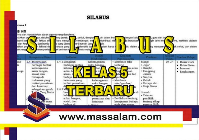 Download Silabus Kelas 5 Tema 5 Kelas 5 Kurikulum 2013 Revisi Terbaru