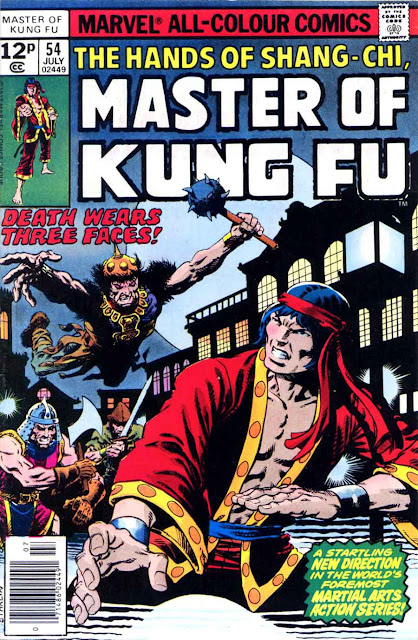 Master of Kung Fu v1 #54 marvel 1970s bronze age comic book cover art by Jim Starlin